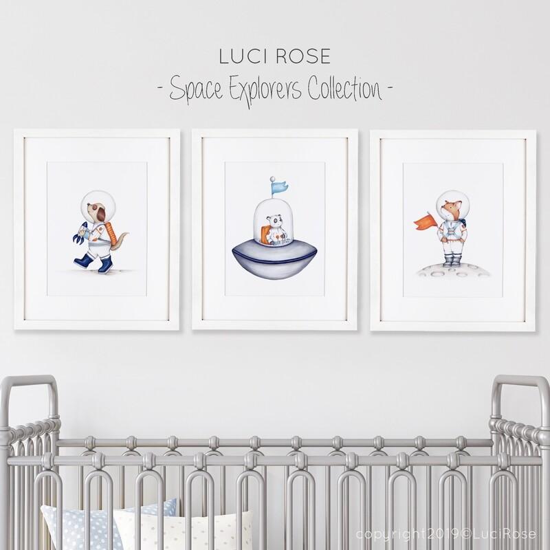 Space Explorers Children's Nursery Art Set