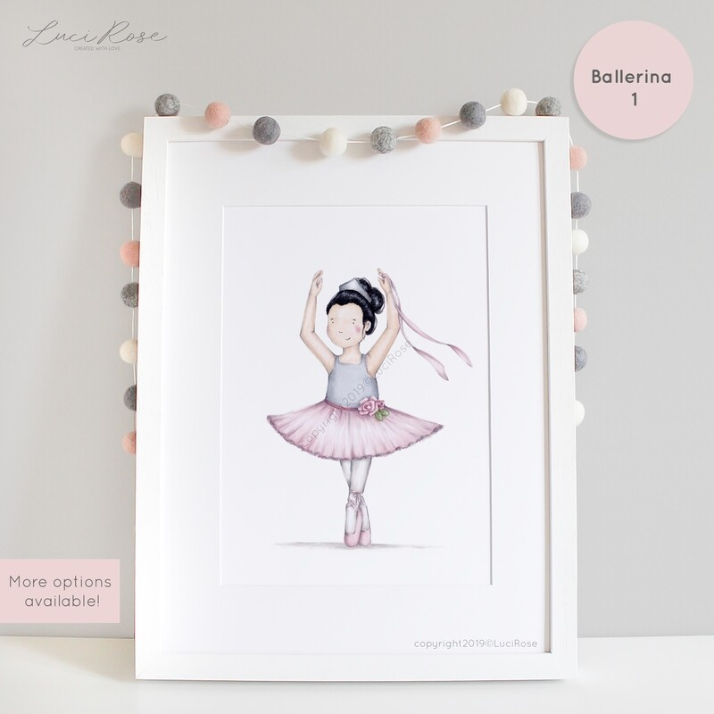 Belle Ballerina Girls Nursery Art