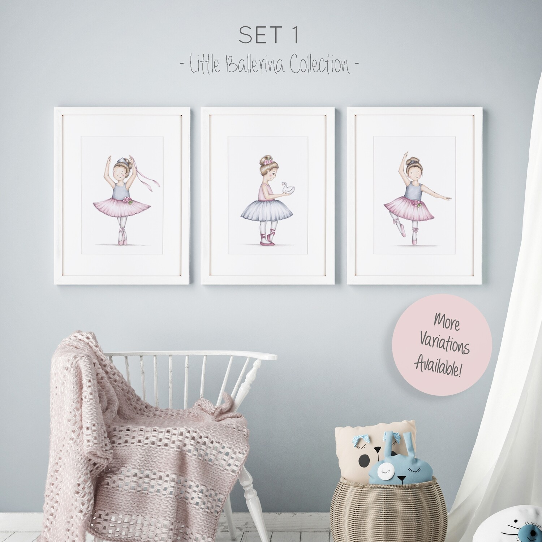Little Ballerina Nursery Art Set