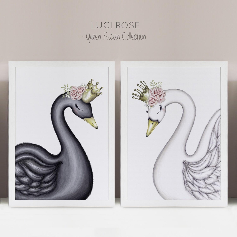 Swan Sisters Collection Nursery Art - Set