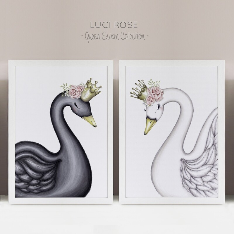 Swan Sisters Collection Nursery Art - Set