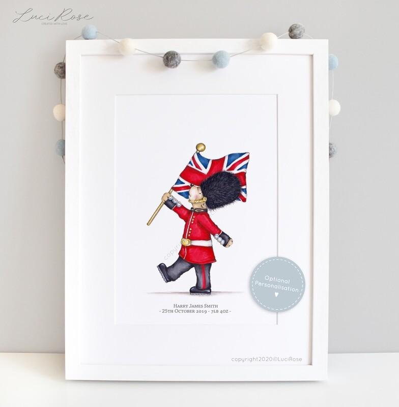 Little London 'Fly the Flag' Children's and Nursery Art