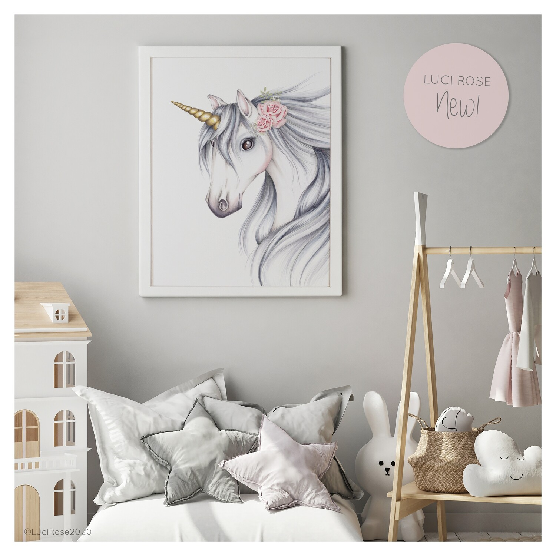 Arabella Unicorn Nursery Art