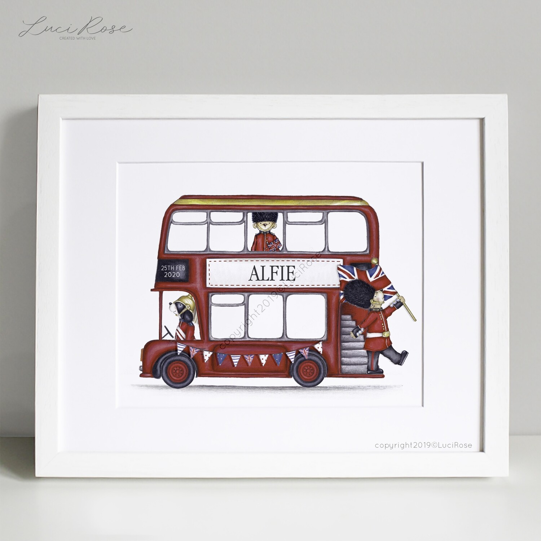 London Bus Children's Nursery Art