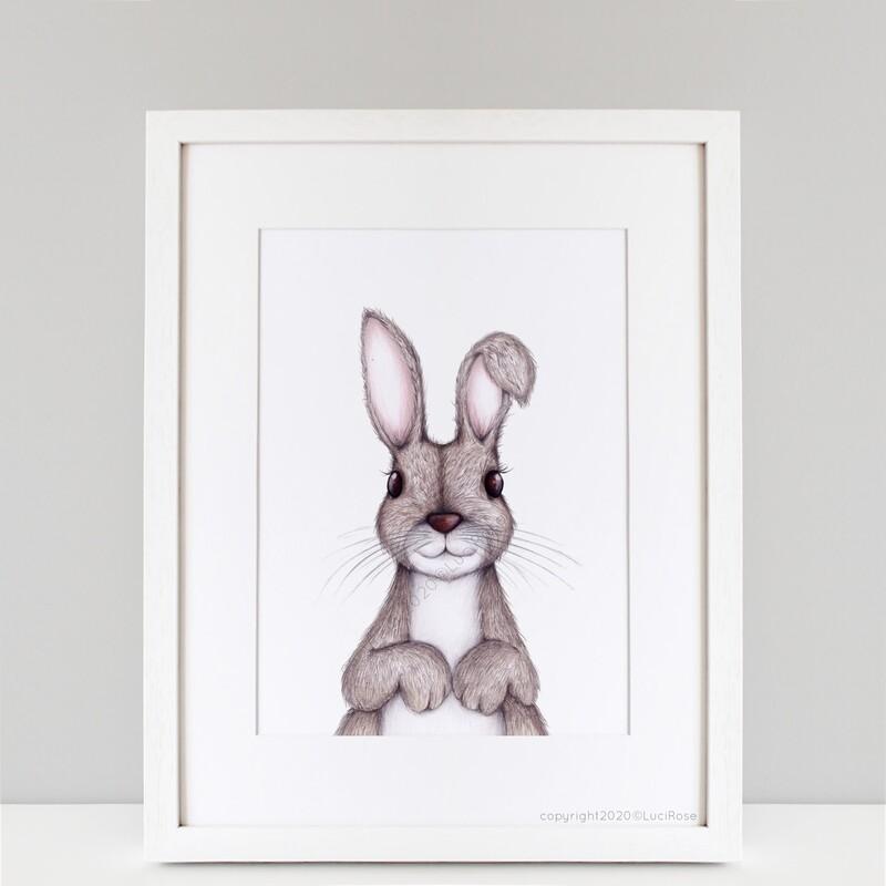 Otis Bunny Children's Nursery Art