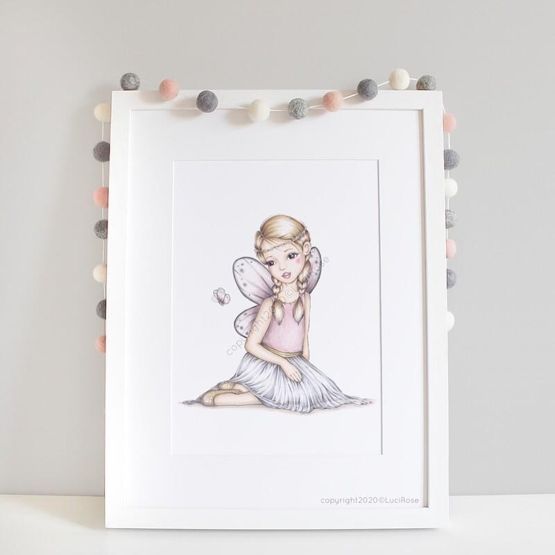 Freya Fairy Girls Nursery Art