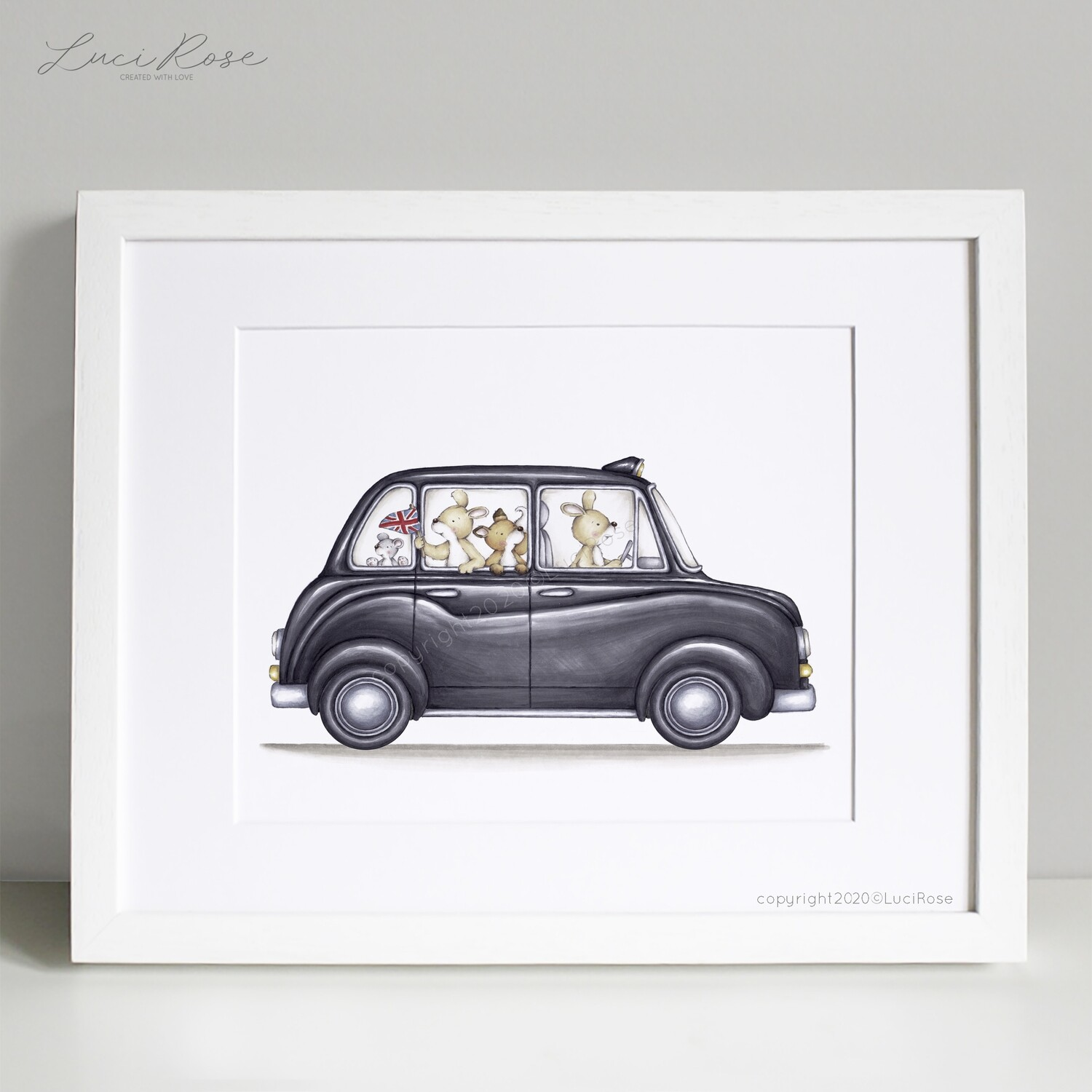 Little London Taxi Ride Children's and Nursery Art