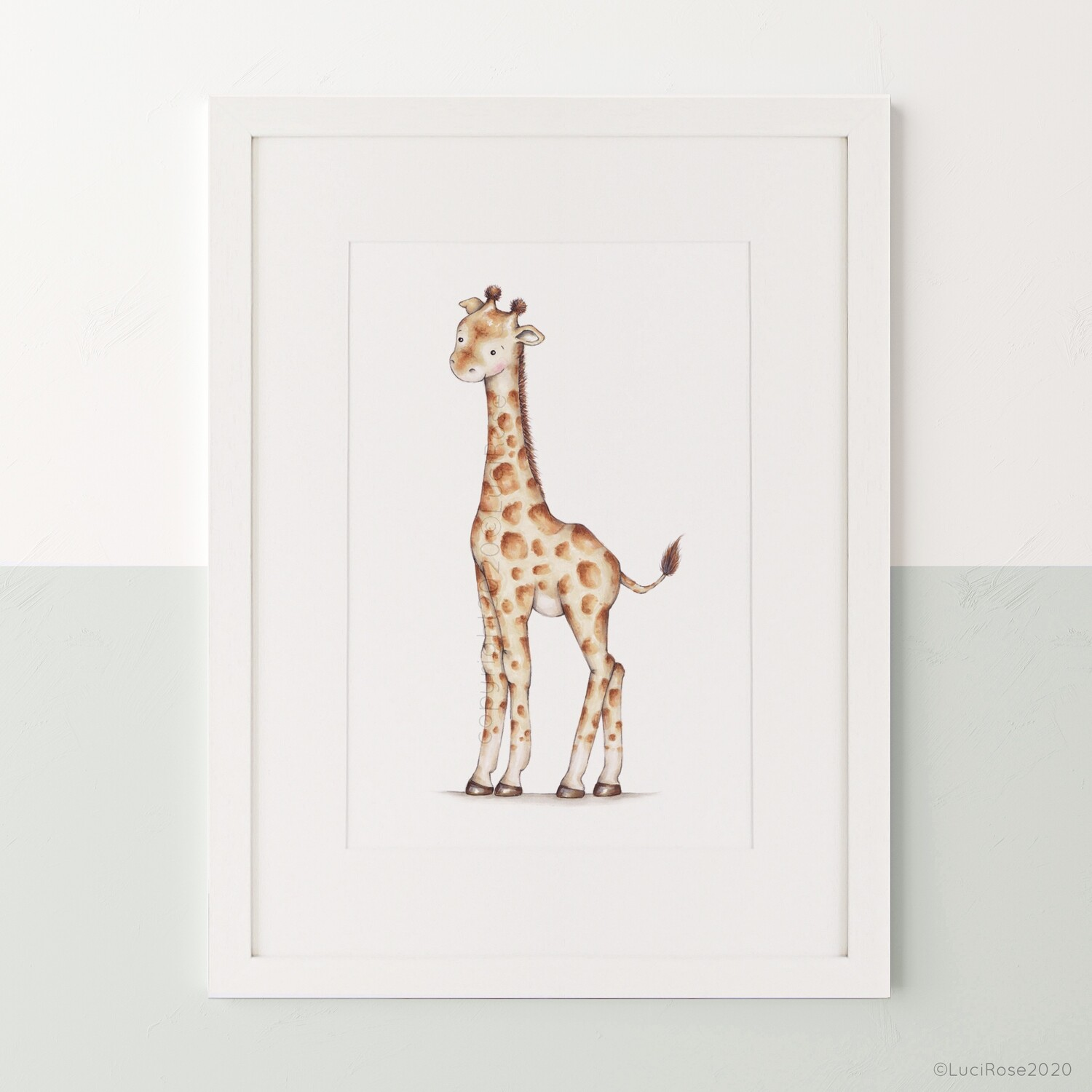 Gerald Giraffe Safari Children's Nursery Art