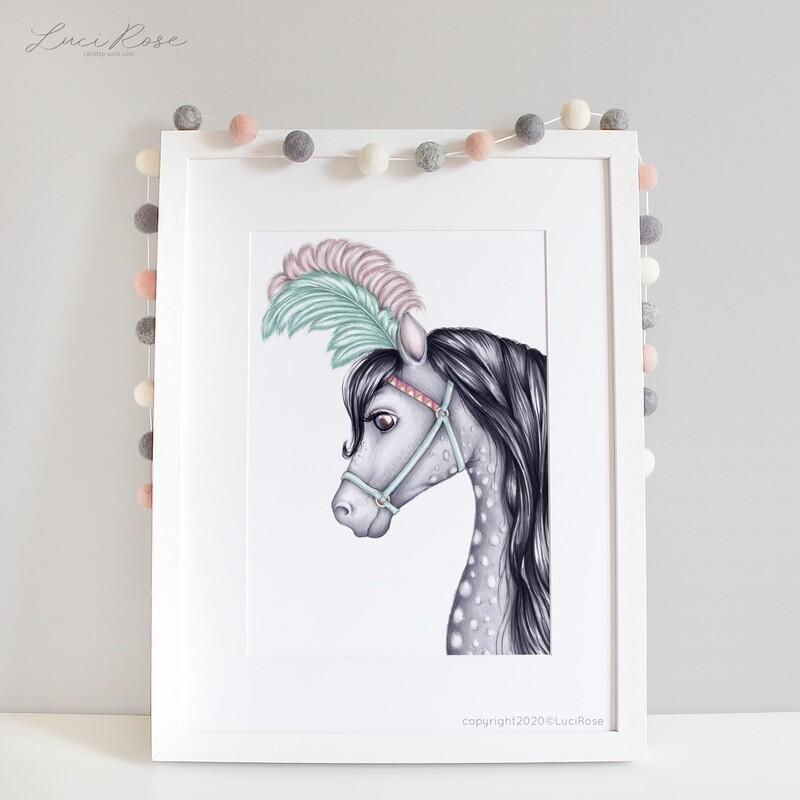 Mila Horse Nursery Art