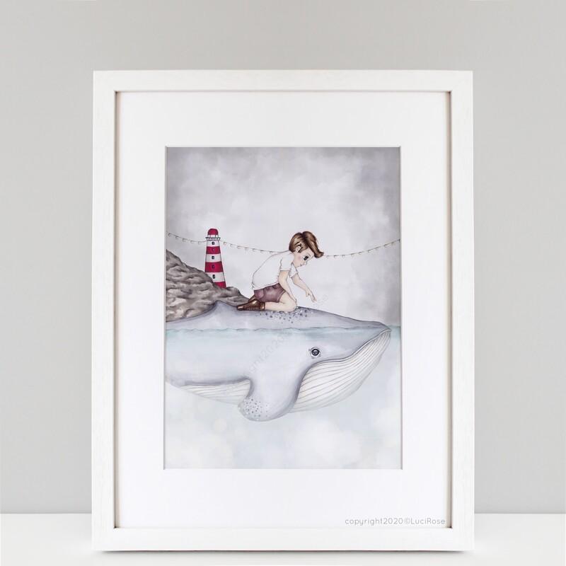'Wilbur & I' Lighthouse Nursery & Children's  Art