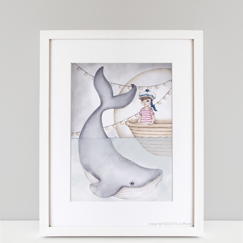 'Wilbur & I' Deep Sea Nursery & Children's  Art