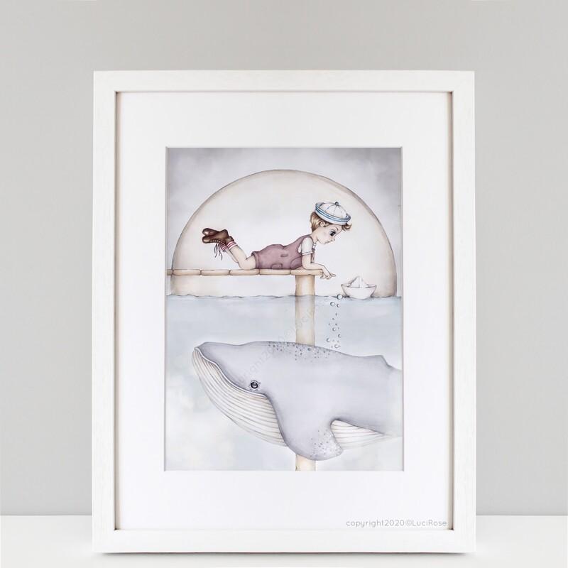 'Wilbur & I' Toy Boats Nursery & Children's  Art