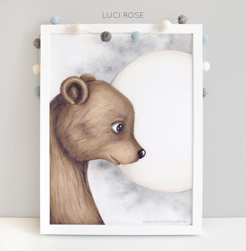 Bruno Bear Children's Nursery Art