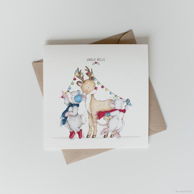Ice Rink Fun Christmas Greeting Card