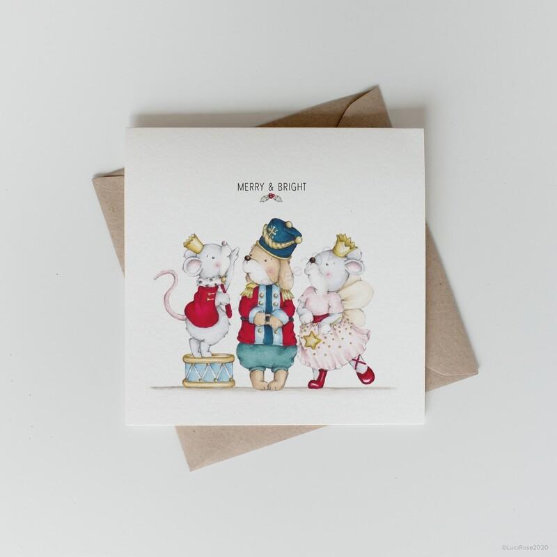 Nutcracker Carol Christmas Greeting Card