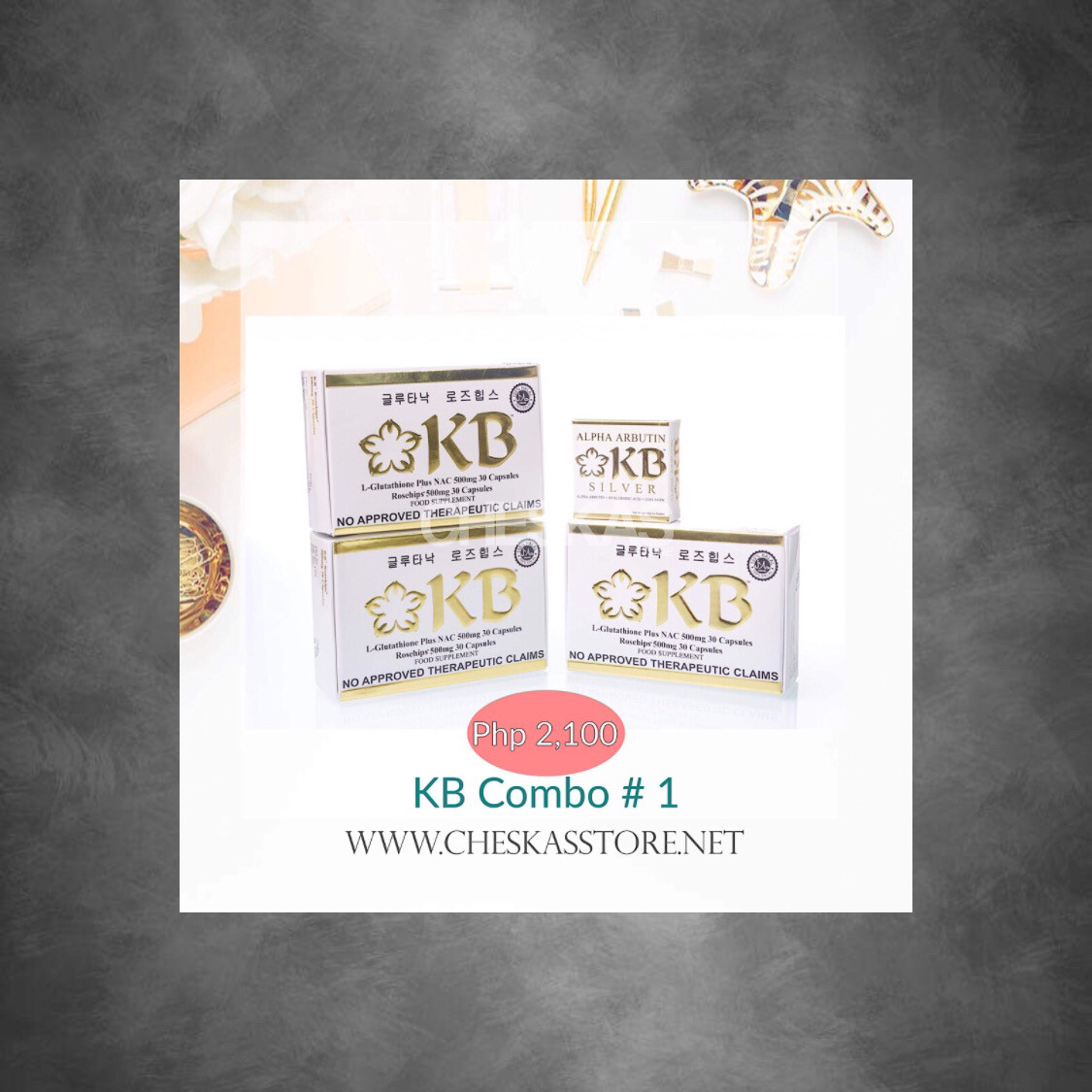 KB Combo # 1 (3 Boxes of KB + 60g KB Silver Soap)
