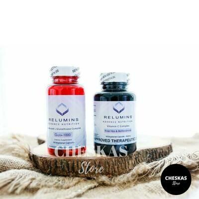 Relumins Gluta 1000 and Vitamin C combo