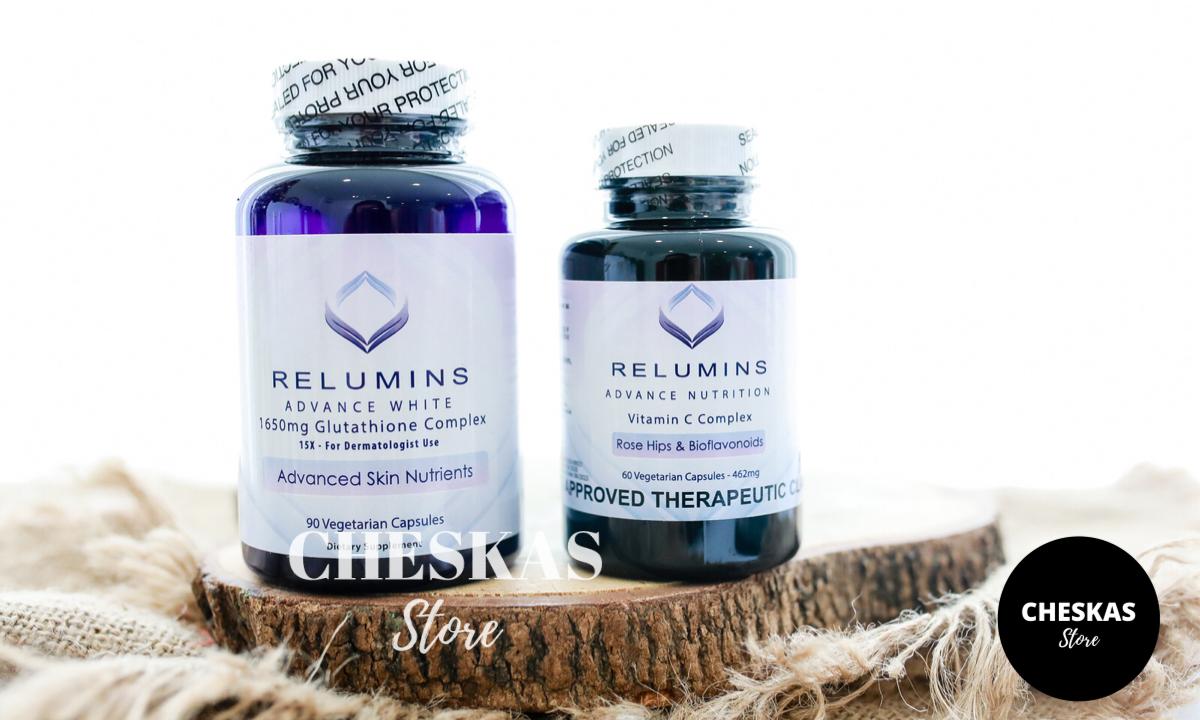 Relumins Gluta 1650 and Vitamin C Combo