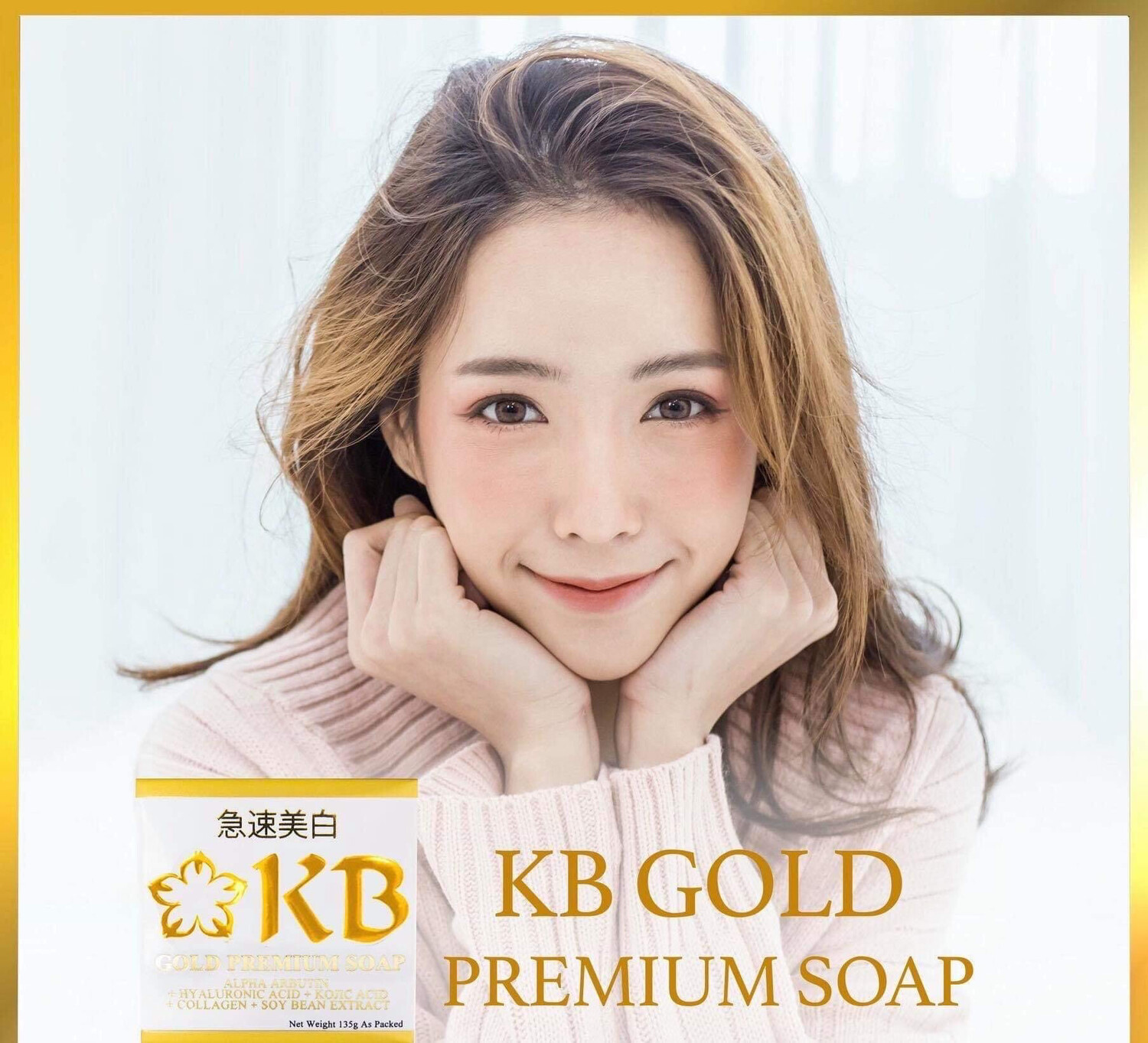 KB Gold Premium Whitening Soap 135g