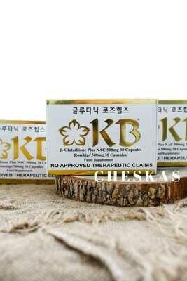 3 boxes of KB Gluta Nac (KB Nac)