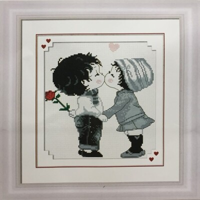 Stamped Cross Stitch Kit Boy and Girl 2