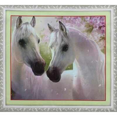 Stamped Cross Stitch Kit Horses