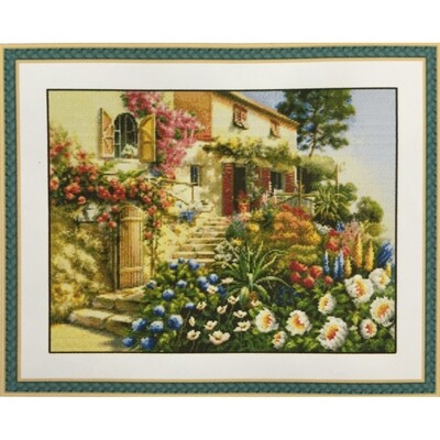 Counted Cross Stitch Kit Garden and House