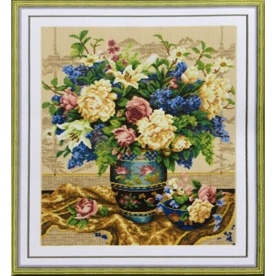 Counted Cross Stitch Kit Flower Vase