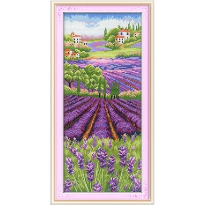 Counted Cross Stitch Kit - Lavender Field