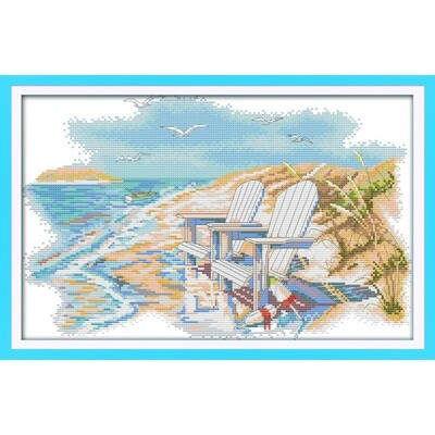 Counted Cross Stitch Kit - A Quite Beach