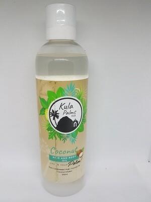 Coconut - Hair & Body Fragrant Oil 250ml - Infused Coconut Oil - Organic Skincare