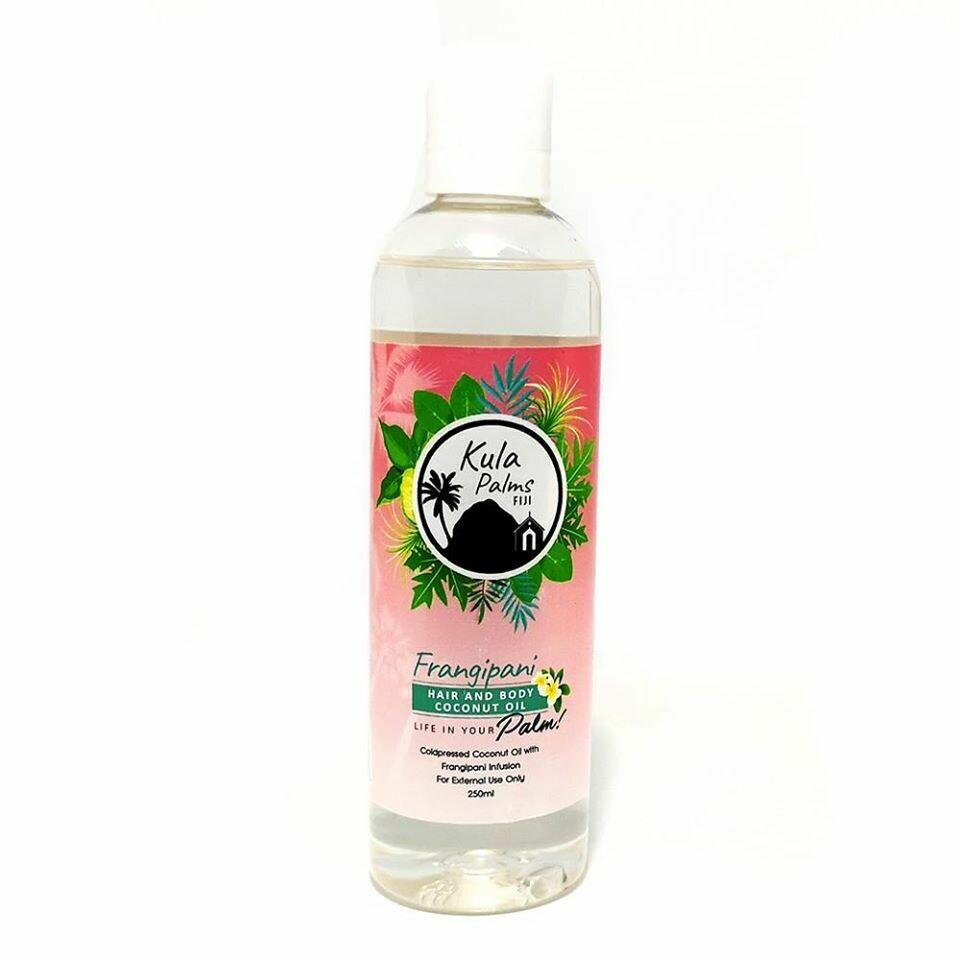 Frangipani - Hair & Body Fragrant Oil- Infused with Coconut Oil - Organic Skincare