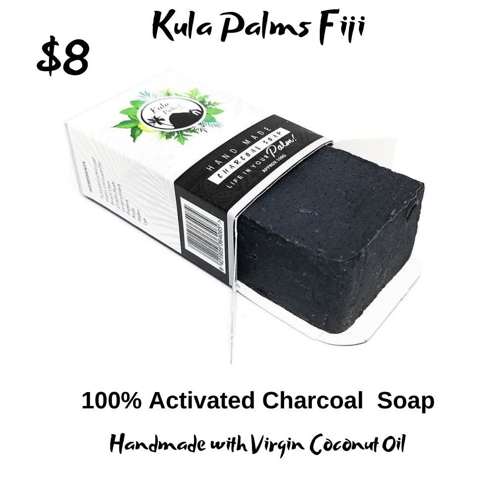 100% Activated Charcoal Soap - Infused with Coconut Oil - Organic Skincare