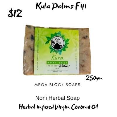 Kura (Noni) - Mega Soap Bar - Infused with Coconut Oil - Organic Skincare