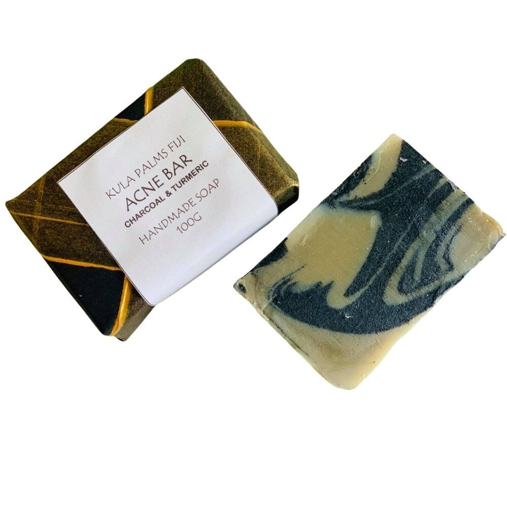 Acne Bar (Charcoal & Turmeric) Pure and Natural Coconut Soap