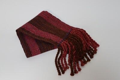 Walnut and logwood dyed scarf