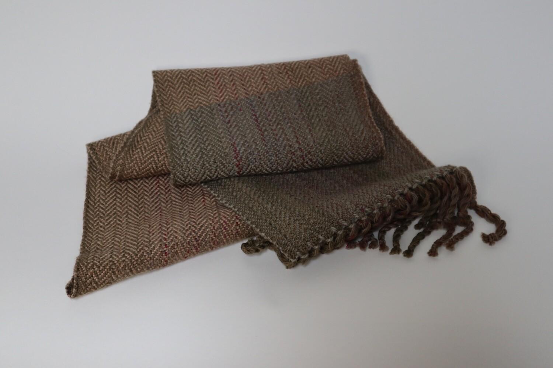 Oregon grape dyed scarf
