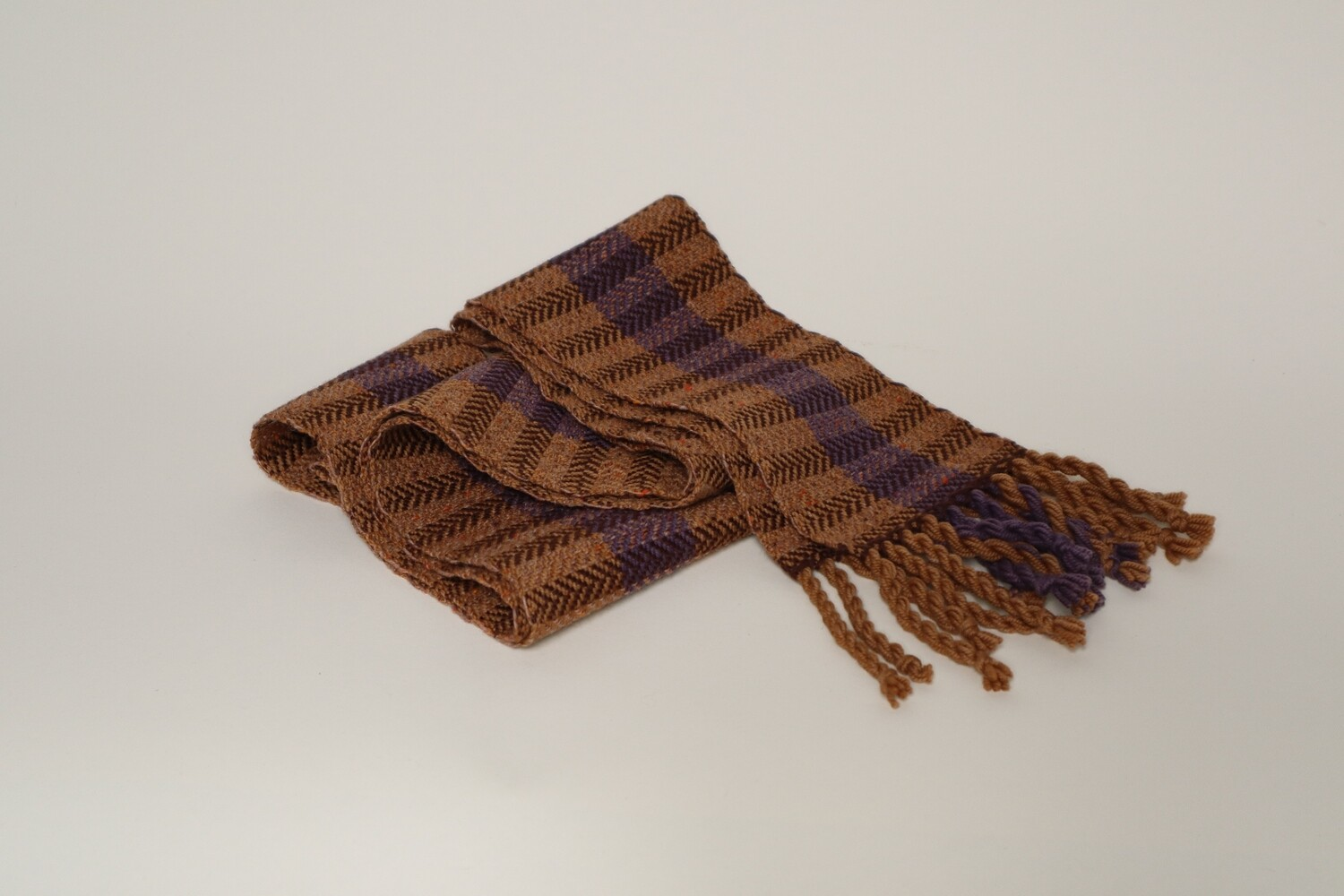 Logwood and madrone bark dyed skinny scarf