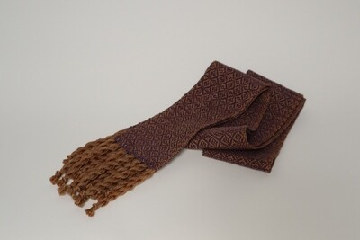 Walnut hull dyed skinny scarf