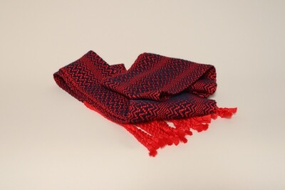 Red and blue cotton scarf