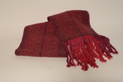 Cochineal dyed scarf
