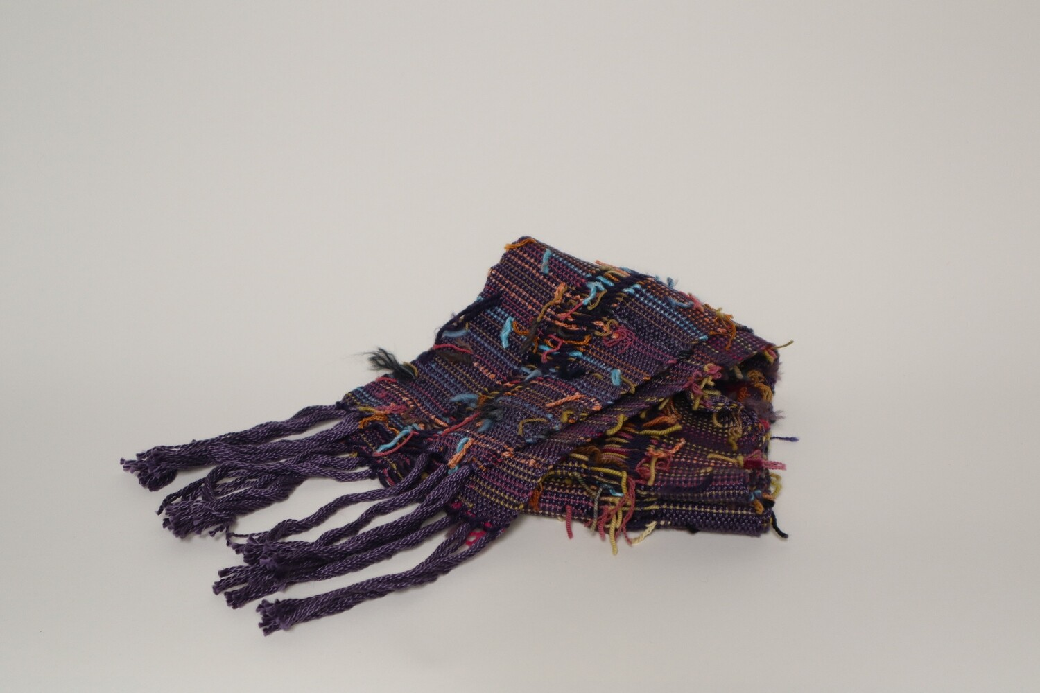 Scarf or table runner made from reused materials