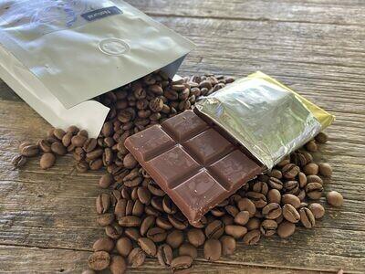 Milk Chocolate Bar with Coffee (Three, 45 Gram Bars)