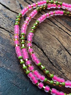 Anklet: Pink & Green