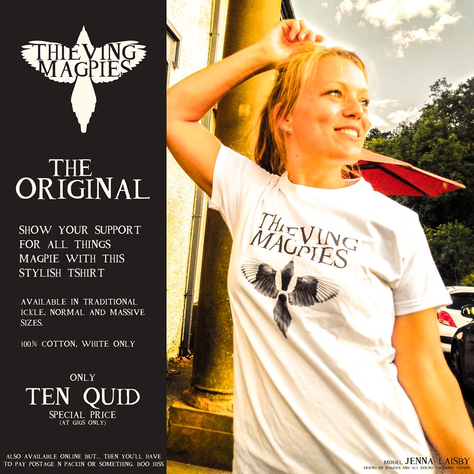 Thieving Magpies T Shirt (MEDIUM)