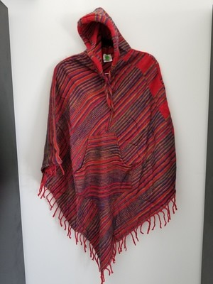 colored poncho