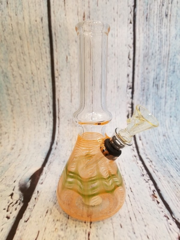 WATERPIPE SMAL ORANGE/GREEN CLASSIC