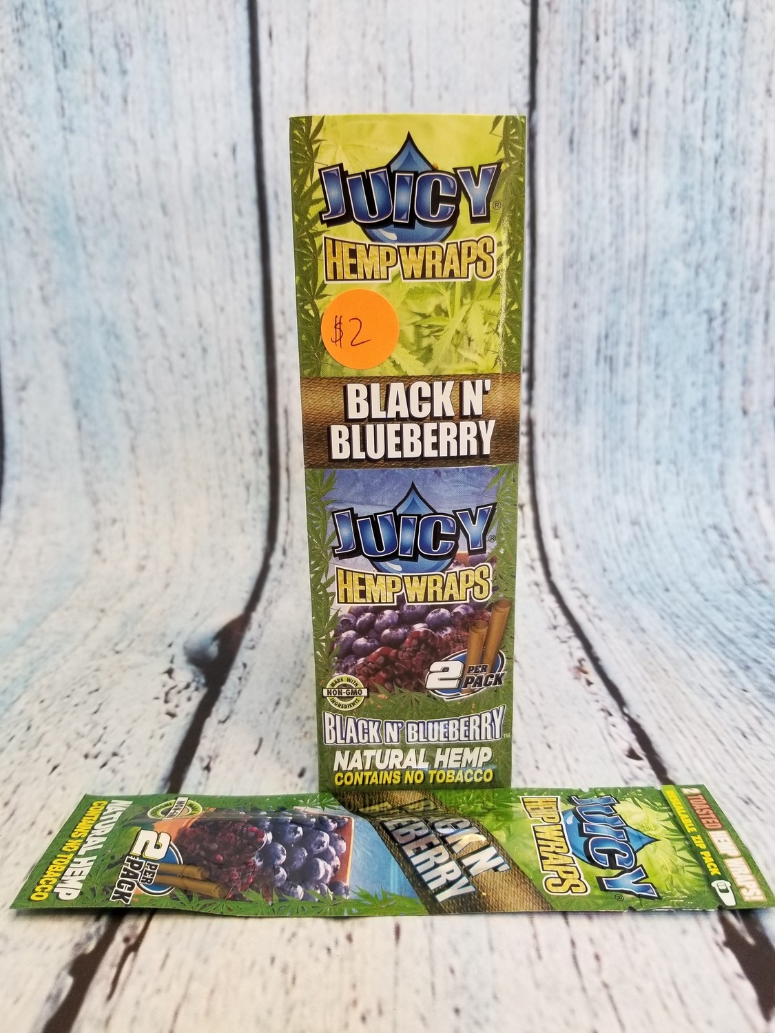JUICY NATURAL HEMP WRAPS BLACK&BLUEBERRY