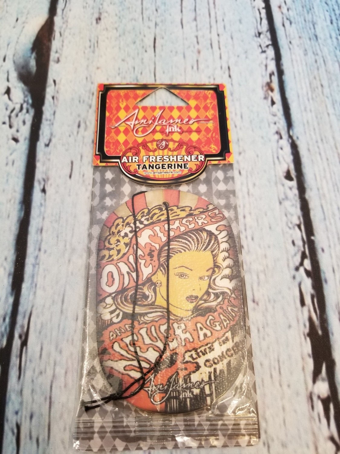 AMI JAMES INC TATOO DESIGN CAR AIR FRESHENER TANGERINE