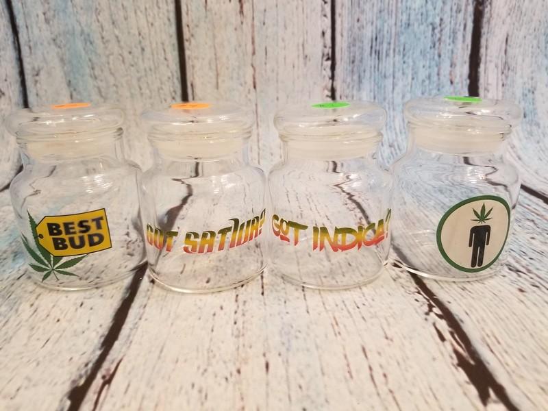 Small Glass Stash Jar